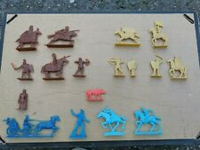 Soviet Russian Ussr Made Plastic Toy Soldiers Brown Blue Cavalry