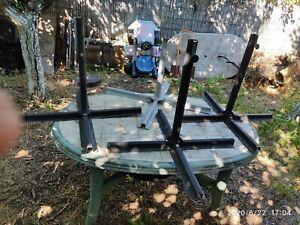 Lot de 4 Pied de parasol de jardin en métal