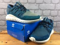 ADIDAS MENS UK 6 EU 39 1/3 TUBULAR NOVA TRAINERS TEAL WHITE RRP £100 M