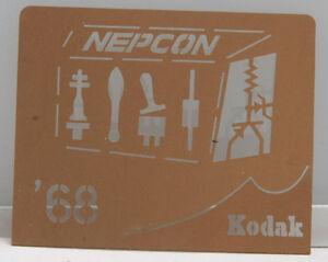 Kodak 1968 NEPCON Machinist Conference Chemical Milling Promo Piece EX++ X228