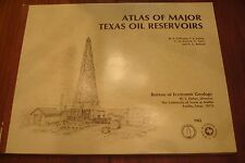 TEXAS OILMANS ESTATE ATLAS OF MAJOR TEXAS OIL RESERVOIRS BOOK MAPS ILLUSTRATIONS