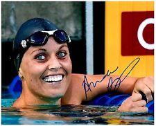 Amanda Beard Signed Autographed Team U.S.A. Olympic Swimming 8x10 Pic. A