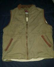 Men's Woolrich Sherpa corduroy  trim Vest (M) Western Wear field wear.