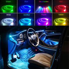 5 LED RGB Car SUV Ambient Light Atmosphere 64 Colors DIY Optic Fiber APP Control
