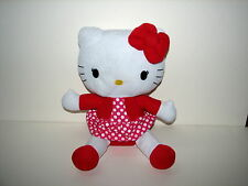 "Sanrio Hello Kitty Plush Stuffed Doll 2012 12"" Cat Polka Dot Dress"