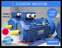 Three phase 7.5kw 10hp 2 pole 2800rpm Electric motor 112 reduce frame compressor