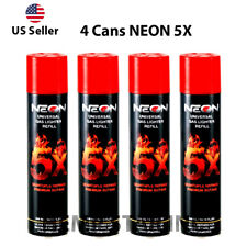 4 Cans Neon Butane Gas 300ml 5x Refined Filtered Lighter Refill Fuel