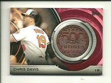 2016 Topps Update Series Chris Davis #500M-16 500 HR Futures Club Medallion