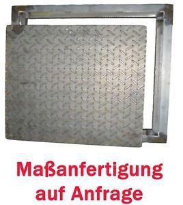 Stahl Schachtabdeckung schwarz befahrbar 5 t Bruchlast  roh Tränenblech Deckel