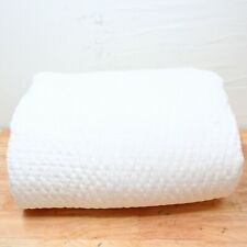 Hotel Collection Full/Queen Coverlet Voile Quilted Cotton White J07144