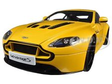 2015 ASTON MARTIN V12 VANTAGE S YELLOW 1/18 DIECAST MODEL CAR BY AUTOART 70252