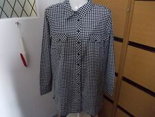Unbranded Check Hip Length Tops & Blouses for Women