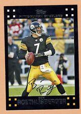 2007 Topps Football #36 Ben Roethlisberger Pittsburgh Steelers NMT