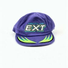 VTG 90s Arctic Cat EXT Snapback Hat Snowmobile Purple Black GREEN USA Made RARE
