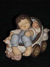 "Goebel Nina Marco, ""süße Träume"" Limited Edition, Kind Baby Kinderwagen Schläft"