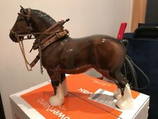LARGE BESWICK EQUINE BROWN BAY SHIRE MARE BURNHAM BEAUTY HORSE TACK FREE UK P+P!