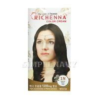 RICHENNA [1N/Natural Black] Color Cream Hair Color, Hair Dye