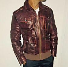 09dcf291e Rare Hugo Boss Brown Lambskin Leather Jacket Genuine Silky Soft 38R