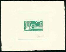 French Polynesia 1965 Gaugin Museum engraved DIE PROOF