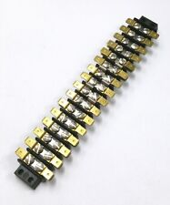 16-141T, 16 Position Terminal Block Strip 20A @ 250V AC W/Multi Tab Connections