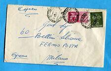 1959 EXP.CAVALLI ALATI £.75 + EUROPA '59 £.25 ann.NAPOLI, 30.09.59   (252460)