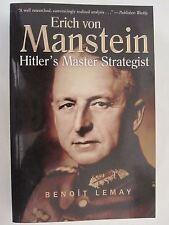 Erich Von Manstein - Hitler's Master Strategist (Paperback)