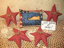 Patriotic Cat shelf sitter stars bowl fillers handmade Americana Home Decor