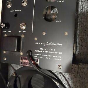 Silvertone Amp In Case guitar amplifier model 1449 Sears