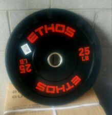 (1) 25 lb Olympic Rubber Bumper Plate NEW SINGLE Ethos Barbell Weights