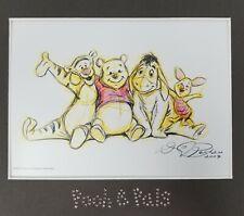 Disney Swarovski Winnie the Pooh Tigger Matted Lith Print Nursery Kids Children