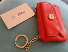 💕💕💕NEW $85.00 OROTON Leather red Wallet Coin key PURSE bag 💟💟💟