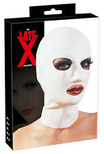 Maschera in lattice bianco Latex Sexxx shop Fetish Bondage Cappuccio uomo donna