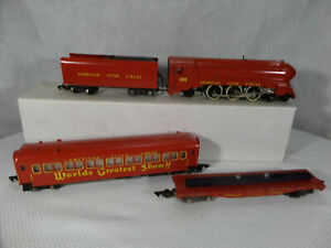 American Flyer Repro Circus Train - ALL RED - ENGINE & CARS