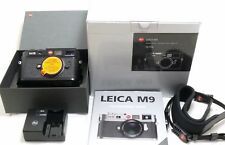 Leica M9 digital camera body black paint 10704 boxed, 625 actuations EXC++