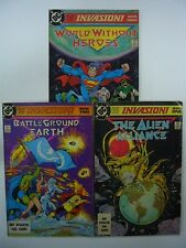 DC COMICS INVASION ! ALIEN ALLIANCE / BATTLEGROUND EARTH / WORLD WITHOUT HEROES