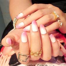 24Pcs Full Nail French Tips Natural Finger False Fake Art Artificial Nails