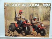 1984 Honda ATC200S ATC200M ATC 200 Motorcycle Brochure L12610