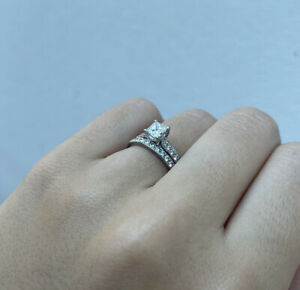 Princess Cut Diamond Ring 0.57ct GIA Certified E Colour