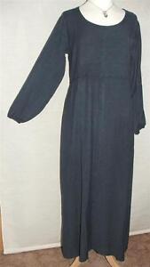 NEW EAONPLUS Long DARK BLUE Soft Rayon Boho Hippy Dress SIZES UK 14/16 to 34/36