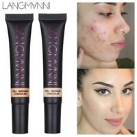 Langmanni 10ml Makeup Full Cover Primer Concealer Cream Face Foundation Contour