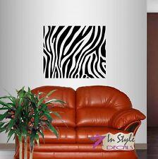 Wall Vinyl Decal Zebra Pattern Stripes Animal Removable Wall Art Sticker 133