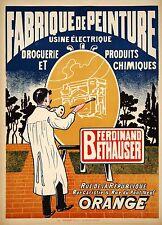 Original Vintage Paint Poster Fabrique de Peinture c1925 French Art