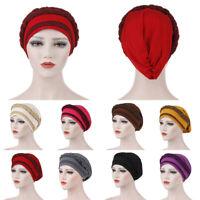 Women's Chemo Cap Cancer Hat Muslim Hair Scarf Turban Hijab Head Wrap Cover Hats