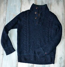 - TOMMY HILFIGER NAVY BLUE WOOL JUMPER size S small
