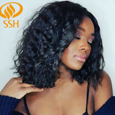 Short Curly Lace Front Human Hair Wigs Pre Plucked &Baby Hair Loose Wig 12 inch