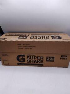 Gatorade Super Shake Vanilla 30g Protein 11.6 Fl oz Carton Pack of 12