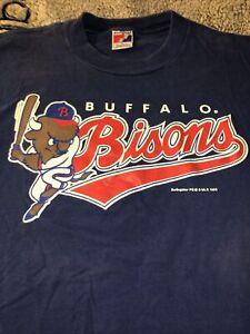 Buffalo Bisons Vintage Tshirt Swingster 1993 Men L Minor League Baseball MLB RAR