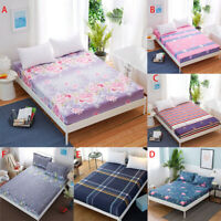 Bed Sheet Floral Printed Cotton Twin Full Queen King Bedding Fitted Cover sheet