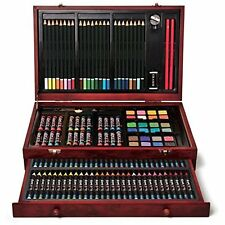 Drawing Art Set Sketching Professional Paint Kit 142Pieces With Deluxe Wood Case