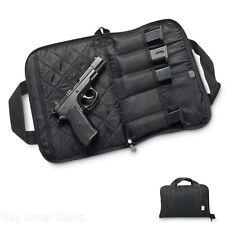 Python Pistol Gun Handgun Rug Soft Case Bag With 5 Magazine Mag Pouches Black